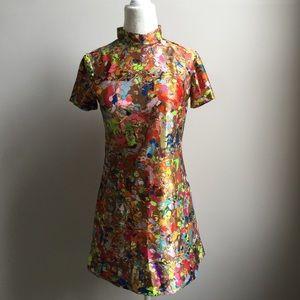 Vintage 60s Go-Go Dancer Dress Psychedelic Print